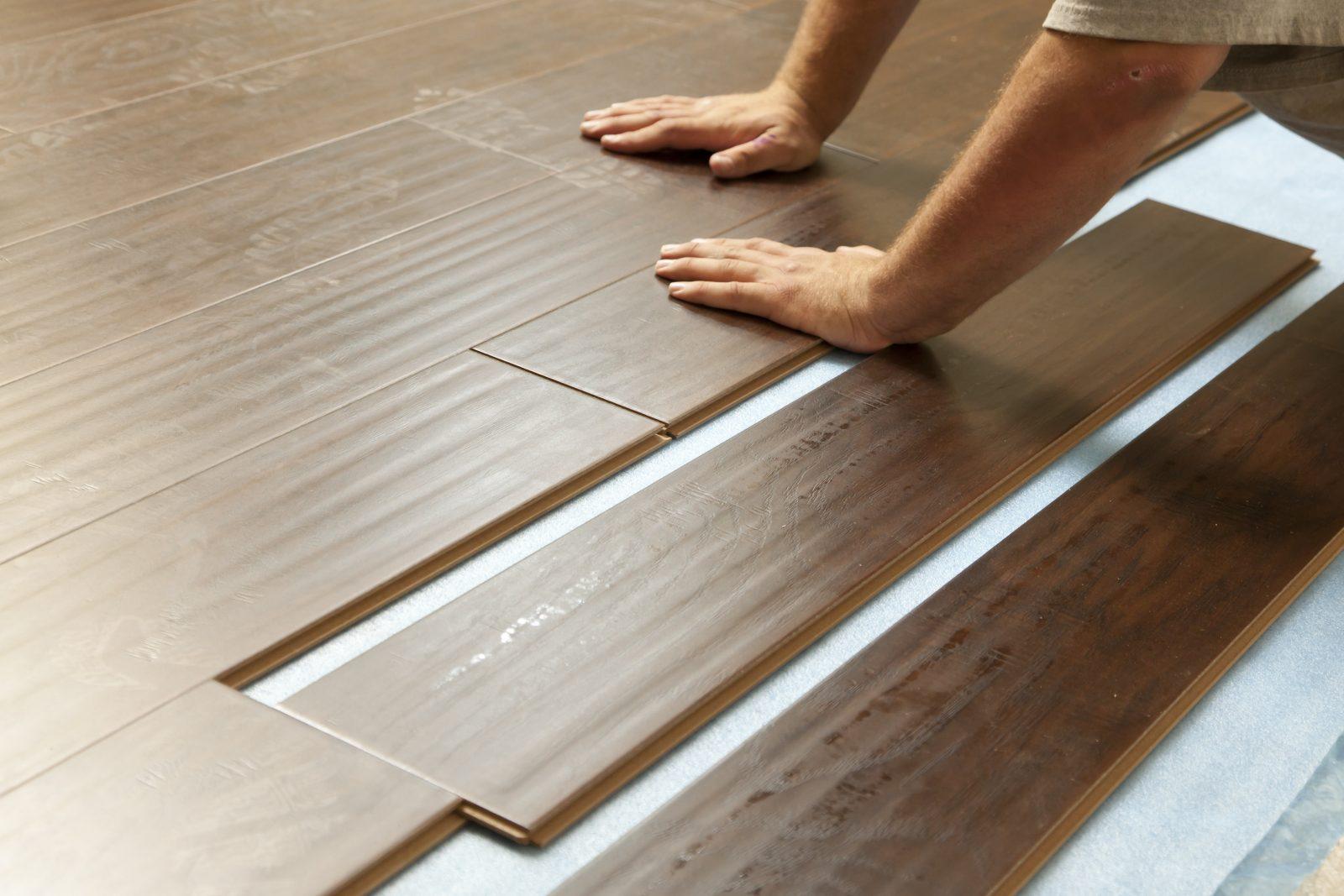 Man installing new Laminate Flooring | Wacky's Flooring