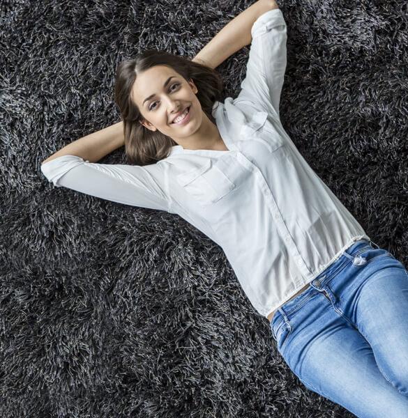 Lady on Carpet | Wacky's Flooring