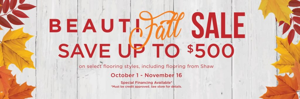 Beautifall sale banner | Wacky's Flooring