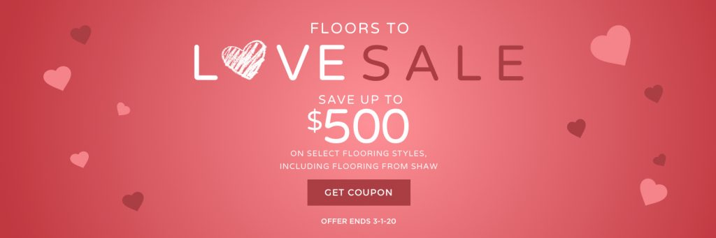 Floors to love sale banner | Wacky's Flooring & Lighting