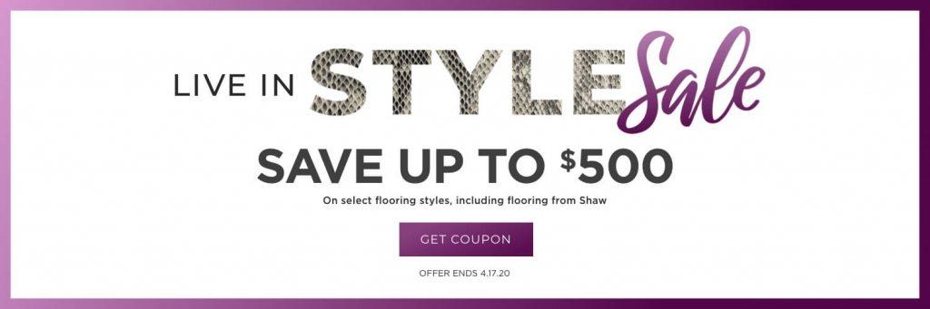Live in Style Sale | Wacky's Flooring & Lighting