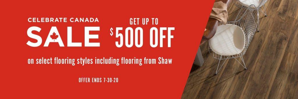 Celebrate Canada Sale   Wacky's Flooring