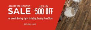 Celebrate Canada Sale | Wacky's Flooring