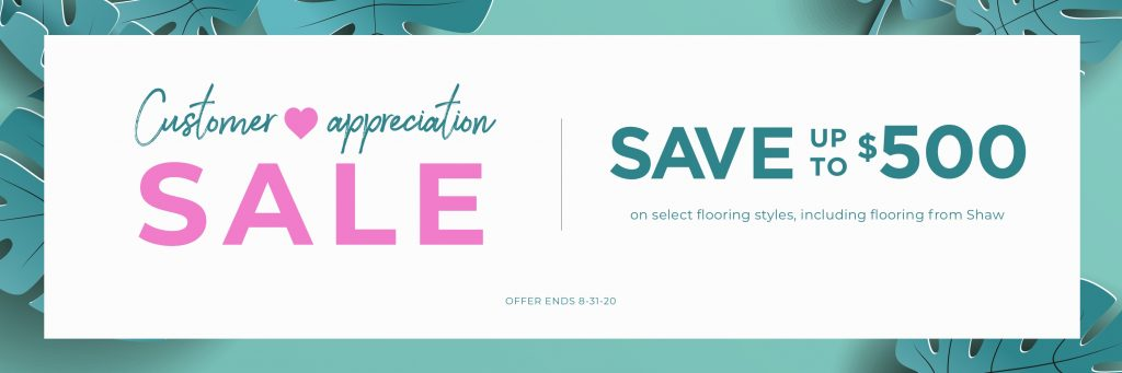 Customer Appreciation Sale   Wacky's Flooring